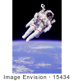 #15434 Picture Of Bruce Mccandless Ii In Outer Space