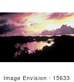 #15633 Picture Of A Sunset Over A Body Of Water