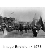#1578 Photo Of The Head Of Suffrage Parade Washington DC