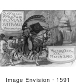 #1591 Official Program - Woman Suffrage Procession Washington DC March 3 1913