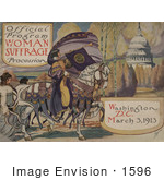 #1596 Official Program - Woman Suffrage Procession Washington DC March 3 1913