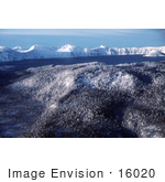 #16020 Picture Of Crater Lake Mountains And Forest In Winter