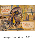 #1616 Official Program - Woman Suffrage Procession Washington DC March 3 1913
