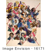#16171 Picture Of A Group Of Caricatures