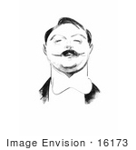#16173 Picture Of A Caricature Drawing Of Rooper Hughes