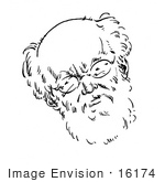 #16174 Picture Of A Caricature Of Karl Kautsky
