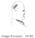 #16180 Picture Of A Caricature Drawing Of CD Gibson