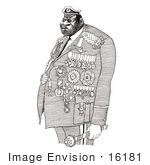 #16181 Picture Of A Caricature Of Idi Amin Dada