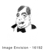 #16192 Picture Of A Caricature Of Irvin Shrewsbury Cobb