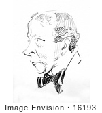 #16193 Picture Of A Caricature Drawing Of Art Young