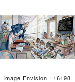 #16198 Picture of Uncle Sam Lecturing Children by JVPD