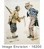 #16200 Picture of a Chinese Soldier and Uncle Sam by JVPD