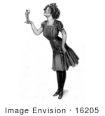 #16205 Picture Of A Woman Holding A Tiny Man In Her Hand