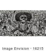 #16215 Picture of Day of the Dead Holiday Calavera Skeletons by JVPD