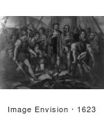 #1623 Christopher Columbus On Board His Ship