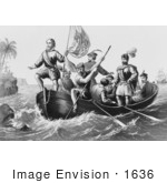 #1636 The Landing Of Columbus At San Salvador