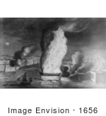 #1656 The Burning Of The Fregate The Philadelphia In The Harbor Of Tri