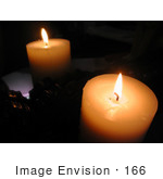 #166 Image of a Candle Reflecting in a Mirror by Jamie Voetsch