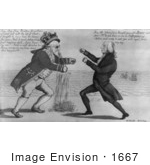 #1667 King George III Boxing With James Madison by JVPD