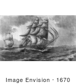 #1670 USS Constitution Towing The HBM Ship Cyane