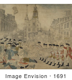 #1691 Stock Photography Of The Bloody Massacre Perpetrated In King Street Boston