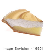 #16951 Picture Of One Slice Of Lemon Meringue Pie As Viewed From The Side