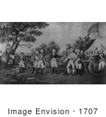#1707 Surrender Of General Burgoyne At Saratoga