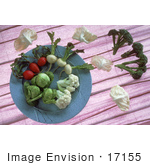 #17155 Picture Of Red And White Radishes Brussels Sprouts Broccoli And Cauliflower