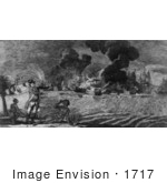 #1717 The Defeat Of American Army By General Howe