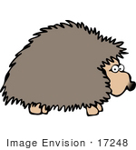 #17248 One Hedgehog Facing Right Clipart by DJArt