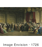 #1726 Franklin Before The Lords In Council Whitehall Chapel London