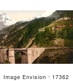 #17362 Picture Of The Hillside Town Of Berisal Along Simplon Pass In The Swiss Alps Valais Switzerland