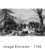 #1740 General George Washington And Lafayette Valley Forge 1777