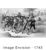 #1743 Heroes Of 1776 Marching To The Fight