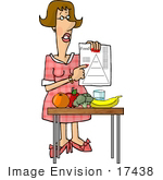 #17438 Dietician Woman With the Food Pyramid and Fruits and Vegetables Clipart by DJArt