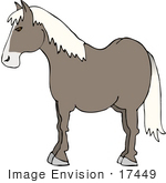 #17449 Gray Horse With White Hair Clipart by DJArt