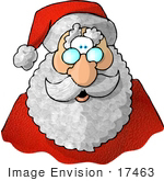 #17463 Santa's Face Clipart by DJArt