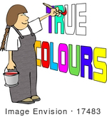 #17483 Artist Painting True Colours Clipart