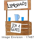#17487 Wooden Lemonade Stand Clipart