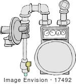 #17492 Gas Meter Clipart