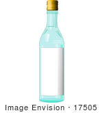 #17505 Vodka Bottle With a Blank Label Clipart by DJArt