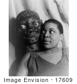 #17609 Picture of Blues Singer Bessie Smith With an African American Face Mask by JVPD