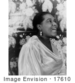 #17610 Picture Of Blues Singer Bessie Smith In A Satin Dress Singing