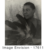 #17611 Picture Of African American Blues Singer Bessie Smith Holding Feathers