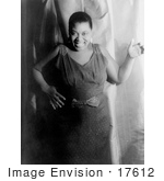 #17612 Picture of Bessie Smith, Blues Vocalist, in a Polka Dot Dress and Bow Aroun by JVPD