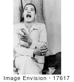#17617 Picture Of Blues Vocalist Billie Holiday Singing