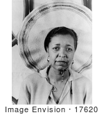 #17620 Picture Of Ethel Waters Blues Singer Wearing A Hat by JVPD