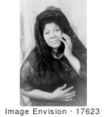 #17623 Picture of Gospel Singer, Mahalia Jackson, Touching Her Face by JVPD