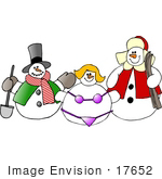 #17652 Frosty The Snowman With A Shovel Clipart