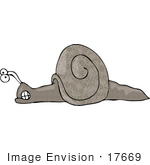 #17669 Angry Snail Clenching Its Jaw Clipart